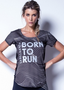 BLUSA T SHIRT FITNESS LABELLAMAFIA BORN TO RUN