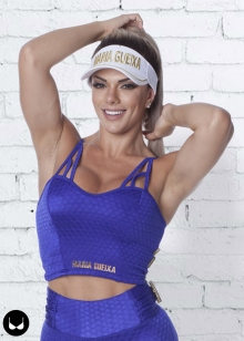 TOP CROPPED DISCO FITNESS MARIA GUEIXA