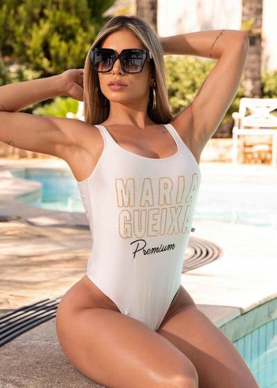 MAIÔ BORDADO MARIA GUEIXA ALTO VERÃO 2020 - Verão Maria Gueixa 2020 - Cor: Off White - Tamanho: G