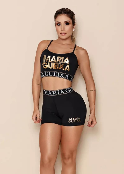 CONJUNTO MARIA GUEIXA VERÃO 2020 - Verão Maria Gueixa 2020 - Cor: Preto - Tamanho: M